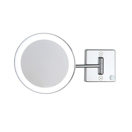 Contemporary Art Websites WS Bath Collections Discolo LED One Arm x Magnifying Mirror From the Discolo Collection
