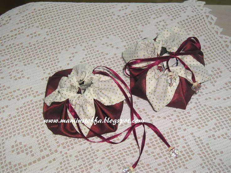 sacchetto fiore con perline
