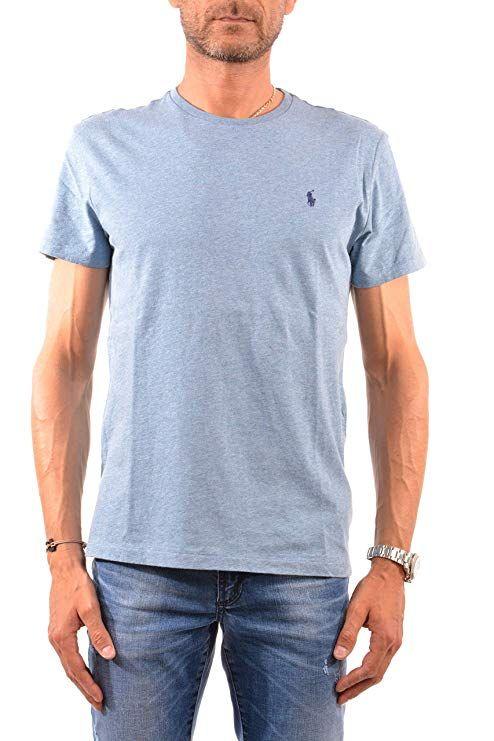 6c0ac49ff Polo Ralph Lauren Men's Classic Fit Solid Crewneck T-Shirt (Small, Ocean  Heather