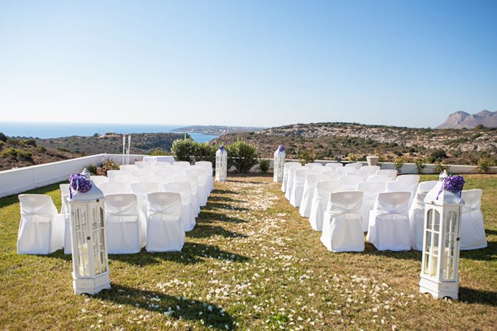 Blessing with sea view from private estate Chania.