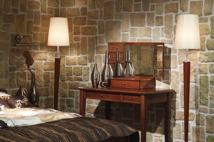 foorni.pl | Kamienna komnata / Stegu / kamień w sypialni / kamień na ścianie / kamień elewacyjny Calabria