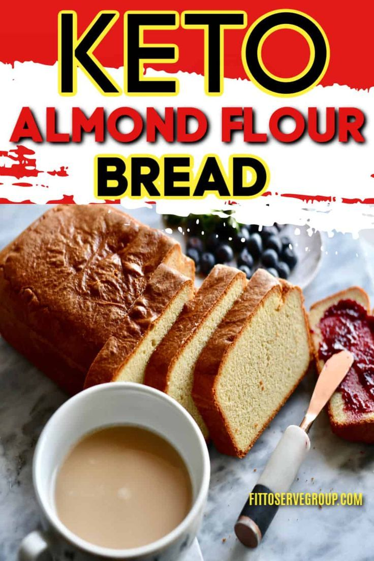 Stop Craving White Sandwich Bread While Doing Keto With This Recipe For Keto Almond Flour Bread I In 2020 Almond Flour Bread Keto Bread Coconut Flour Sugar Free Bread
