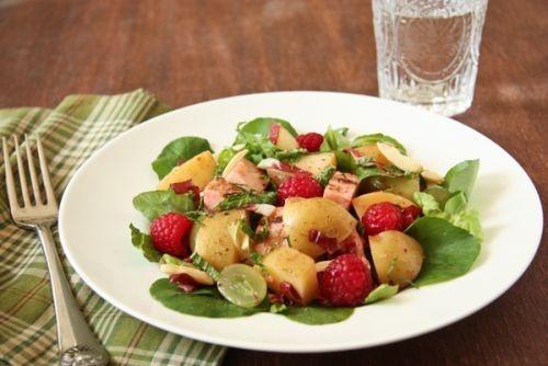 Idaho Potato, Raspberry and Grilled Chicken Salad.