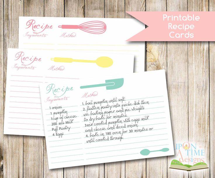 Best 25+ Printable recipe cards ideas on Pinterest | Recipe cards ...