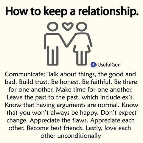 How to keep a relationship (via Facebook)