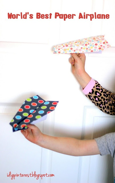 World's Best Paper Airplane - since my preschoolers are always asking for paper airplanes