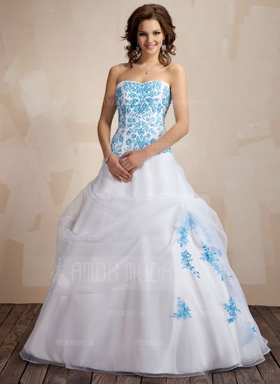 Special Occasion Dresses - $206.99 - Ball-Gown Sweetheart Floor-Length Organza Quinceanera Dress With Embroidered Ruffle (021002283) http://amormoda.com/Ball-gown-Sweetheart-Floor-length-Organza-Quinceanera-Dress-With-Embroidered-Ruffle-021002283-g2283
