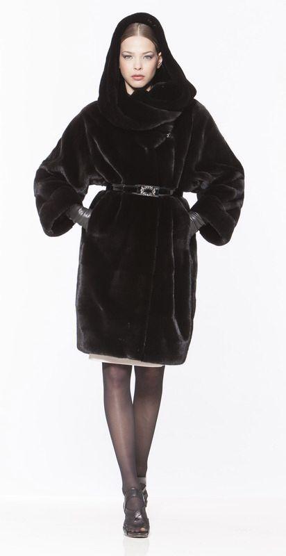 Braschi Blackglama Mink Fur Hooded Coat