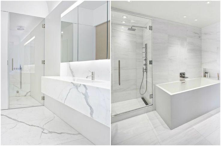 Мрамор в ванных комнатах в стиле минимализм #interior #мебель #дизайн #интерьер #дом #уют #декор