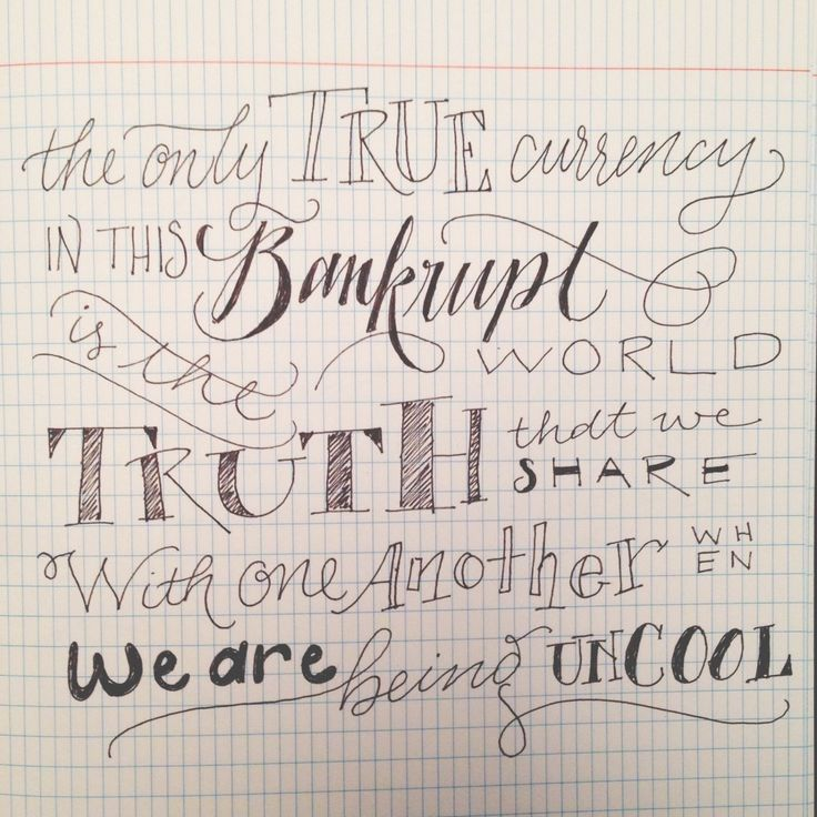 Almost Famous Lettering Quote // Lettering on my plane ride home from California today. I love this quote!