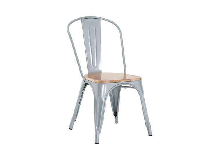 CANNES Stol Grå/Träsits i gruppen Inomhus / Stolar / Matstolar hos Furniturebox (100-46-87792)
