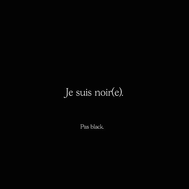 Why does it make people so uncomfortable to use the term [noir] in french when it comes to describe an actual - black - person? Doesn't accepting what and who we are includes being comfortable with saying it out loud - and not using nor accepting others to use euphemisms or alternative words? [ NOIR ] as this media - is a will to remove complexes and discomforts, and bring a new narrative promoting a greater image of African, black, [ NOIR ] women (and men) all around the world. [ NOIR ]…