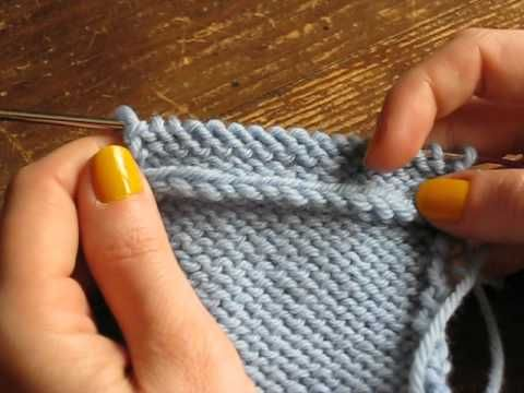 Résultat: relever des mailles dans le sens du tricot et dans le sens de la lisière | In the loop