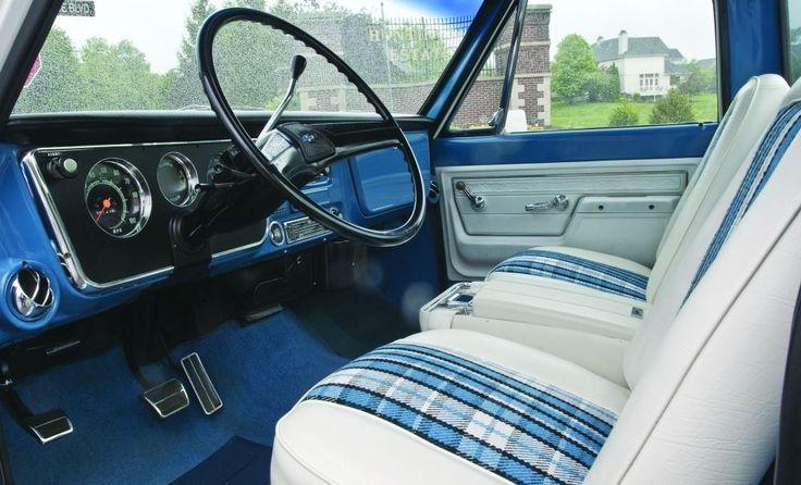 Highlander Interior 71 72 Chevrolet White Blue Buckets W