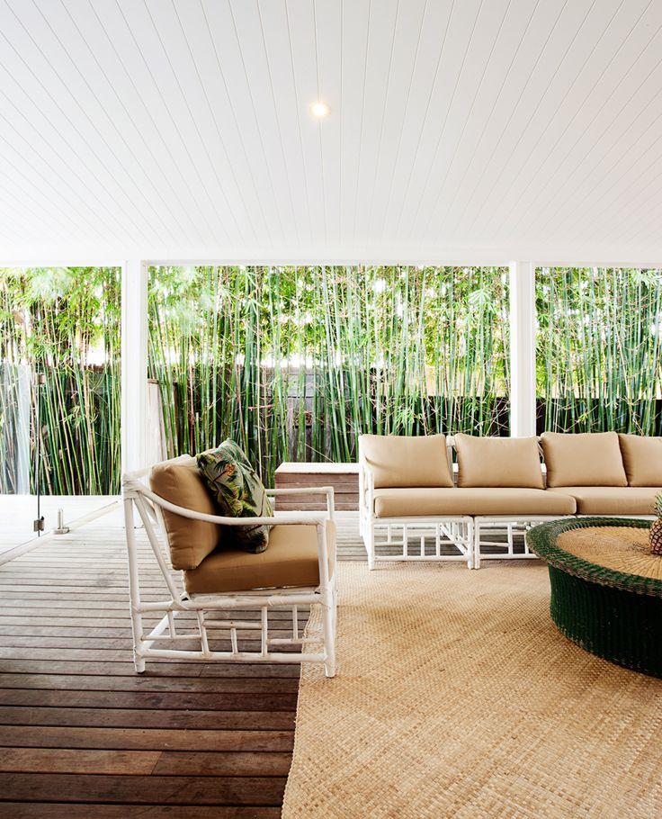 BAMBOO FURNITURE Kick back in one of Byron's luxury beach shacks