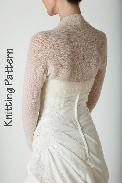 Knitting Pattern Bolero knitted in one piece by Weddingbolero, €5.00