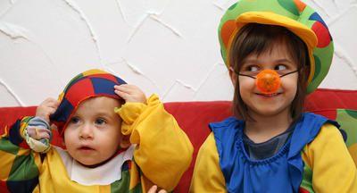 Niños con disfraces