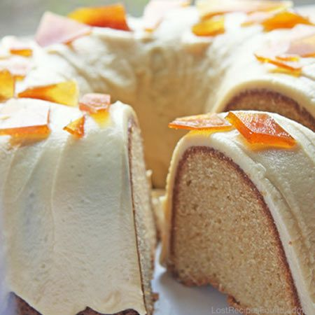 This bundt cake from Baked of Brooklyn is an interesting re-think on the classic burnt-sugar cake theme, contemporized with coconut milk and rum in the mix, plus pretty sugar shards on top.