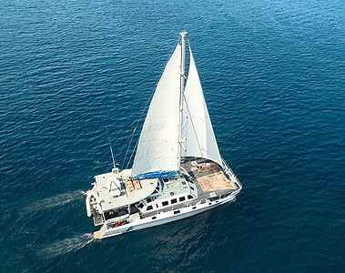 ARISTOCAT CATAMARAN CRUISE.  Sail away into paradise aboard Aristocat - The Luxury Sailing Catamaran. This stunning 64ft vessel is equipped to the highest standards and departs from Benoa Harbour to the idyllic isle of Lembongan