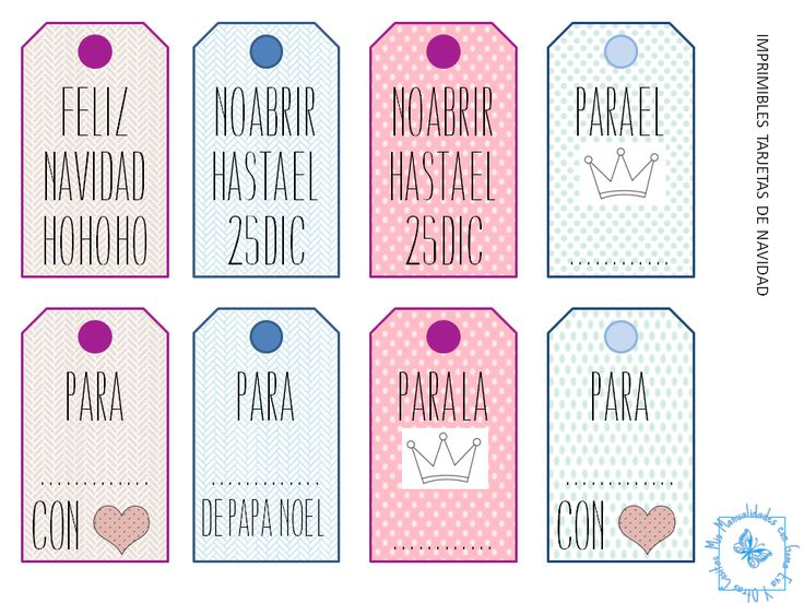 Menta Más Chocolate - RECURSOS PARA EDUCACIÓN INFANTIL: Etiquetas para los REGALOS de NAVIDAD