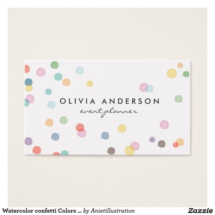 The 9 best business aniet illustration images on pinterest watercolor confetti colors business cards event colourmoves