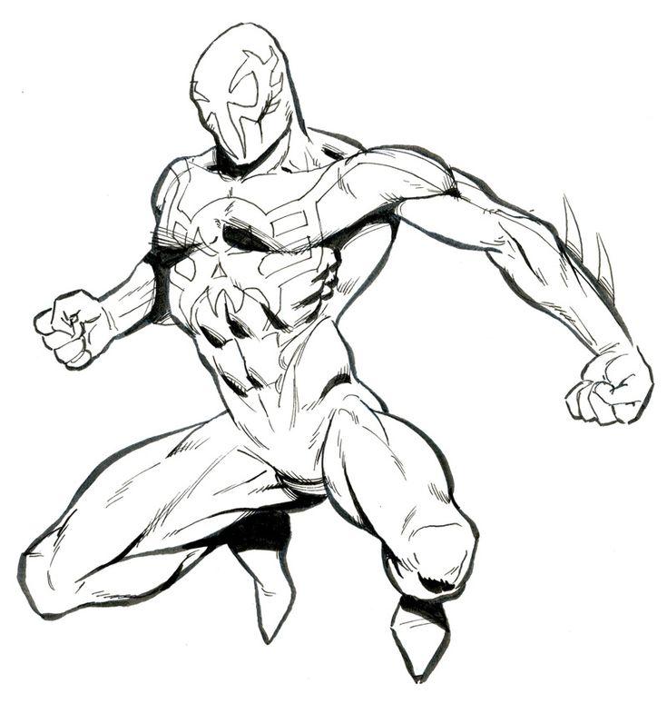spiderman 2099 drawing ref pics pinterest spiderman