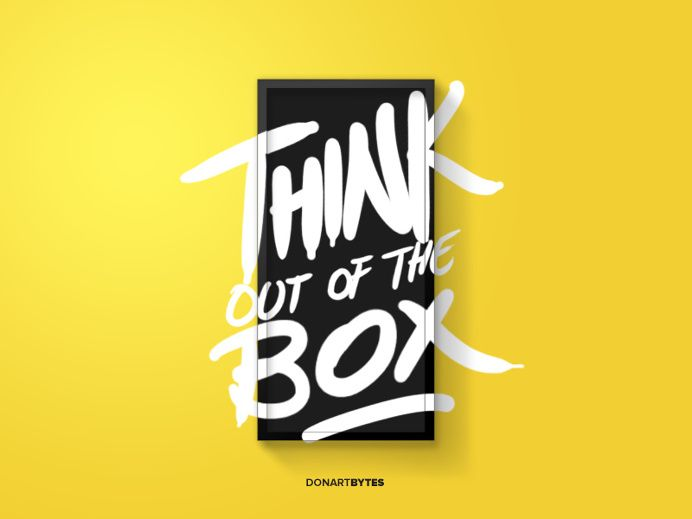 Think out of the box – By Donart Bytes Selimi in Typography