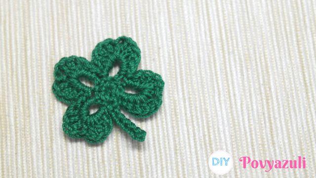 DIY Crochet and Knitting Povyazuli: [Crochet] How to Crochet a Four Leaf Clover 🍀