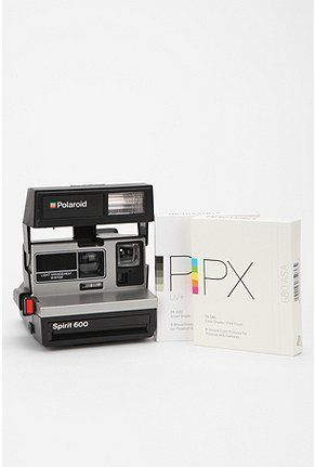 Polaroid 600. I miss playing with my great grandma's! Who doesn't love the instant picture printout?