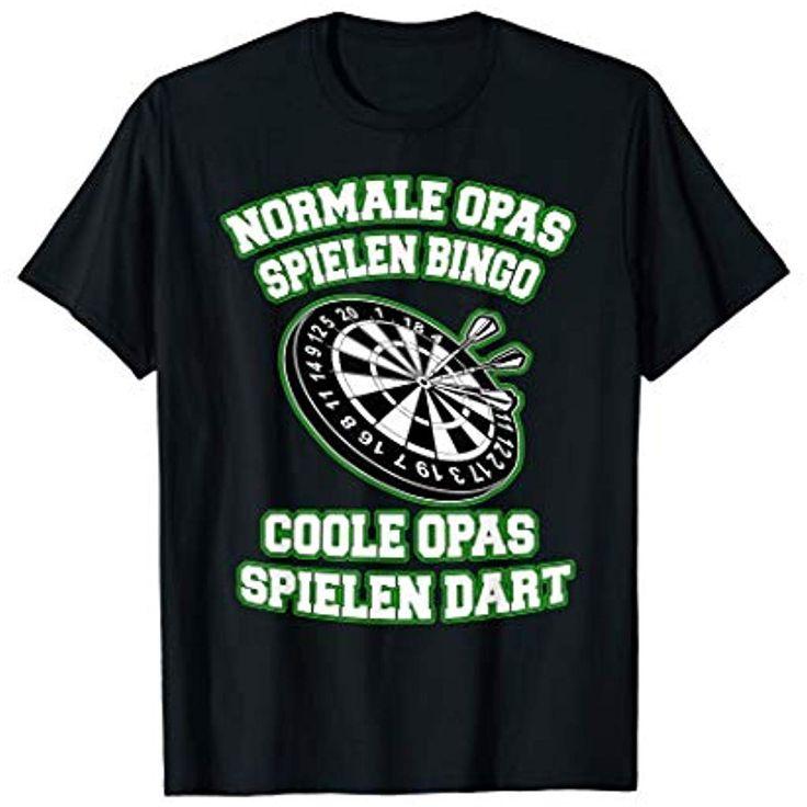 Normale Opas spielen Bingo coole Opas spielen Dart T-Shirt #Bekleidung #Speziell...