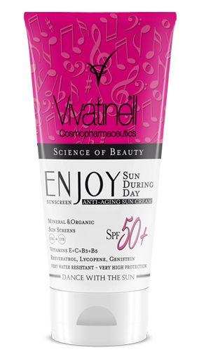 Enjoy Anti-Aging Sun Cream SPF 50+ / Enjoy Yaşlanma Karşıtı Hassas Ciltler İçin Güneş Kremi SPF 50+