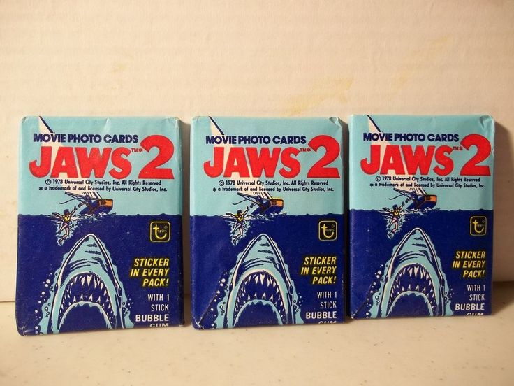 1978 Topps Jaws 2 Movie Cards Unopened Wax Pack  - 3 Pack Lot