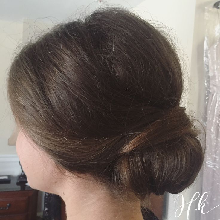 23 Evergreen Romantic Bridal Hairstyles: Soft Romantic Bridesmaid Updo. Pulled Back Into A Low Soft