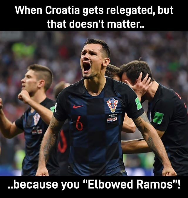 Meme Memes Memy Mem Ramos Realmadrid Dejan Lovren Sergio Ramos Croatia