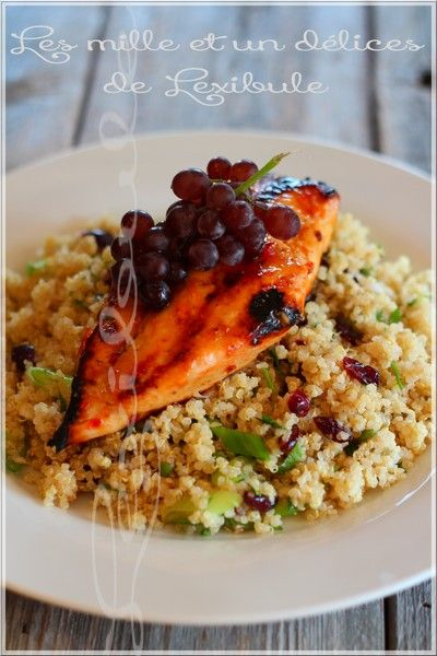 les milles & un délices de ~lexibule~: ~Blanc de poulet grillé et salade de quinoa aux canneberges~