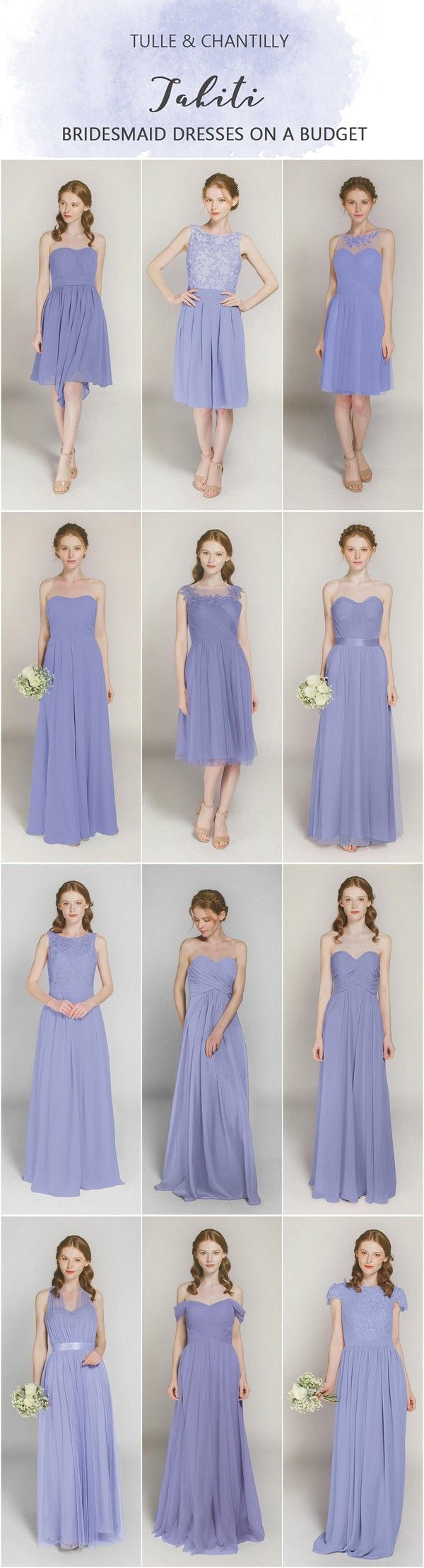 affordable Tahiti short and long bridesmaid dresses