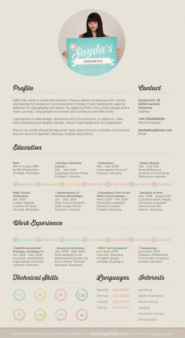 16 best images about resume design inspiration on pinterest
