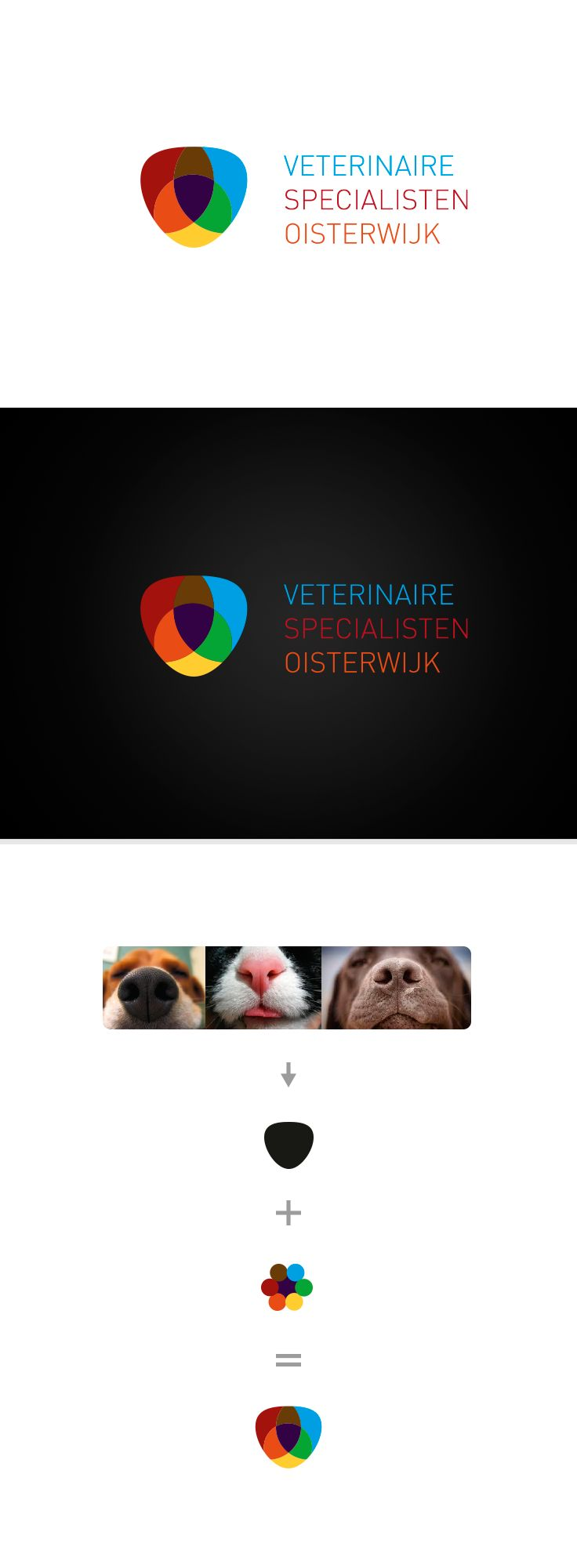 Logo design for a veterinary Specialist. The question asked: Design a logo that is abstract, simple en shows that we make a difference? O, and don't show any animals!