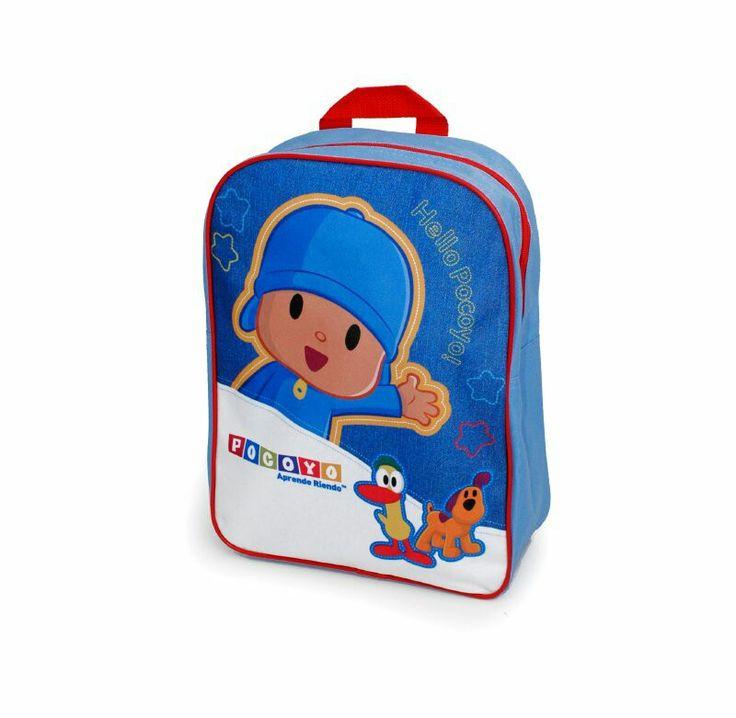Mochila con diseño estampado, ideal para etapa pre escolar, tirantes ajustable, tirador de goma, tiene una manilla para colgar en color roja, tela polyester.