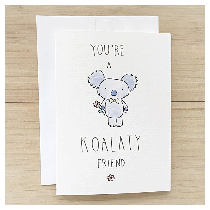 you koalaty friend koala bear punny birthday kenziecardco happy old crab card size