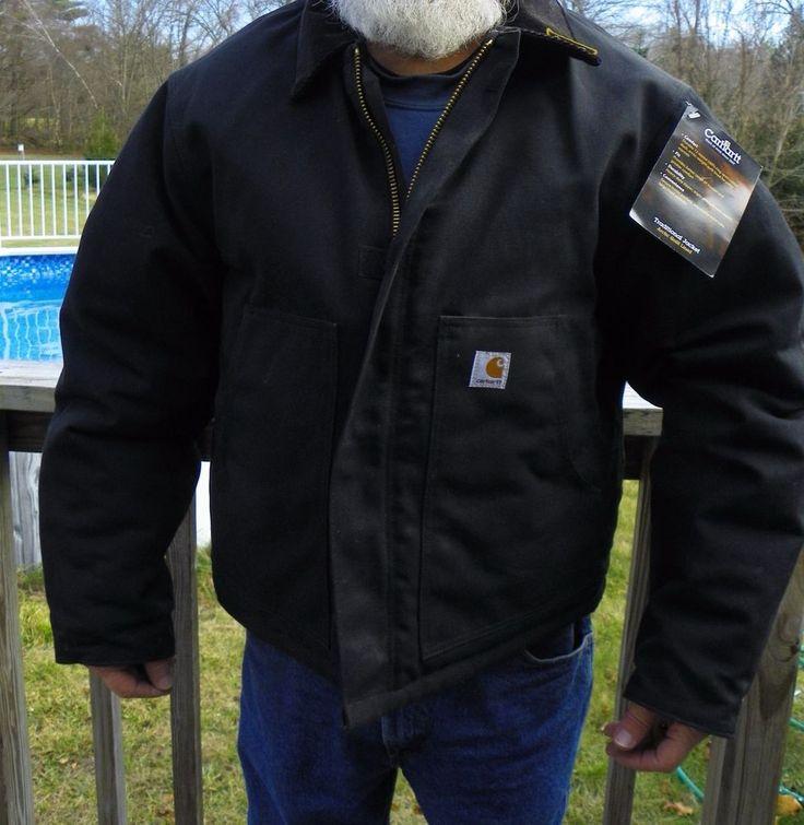 NWT Carhartt Men's Arctic Traditional Quilt Lined Jacket Coat Size 48 Black #Carhartt #Coat