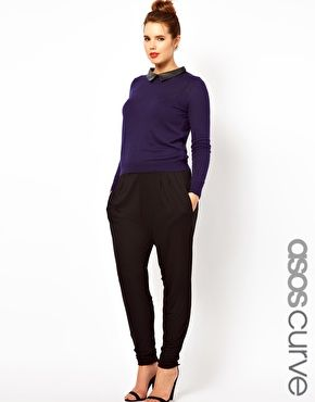 ASOS CURVE Peg Trousers In Jersey, because I just can't resist unflattering cuts