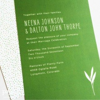 33 best wedding invitations images on pinterest wedding neena dalton wedding invitation design digitally printed with cute leaf motif stopboris Choice Image
