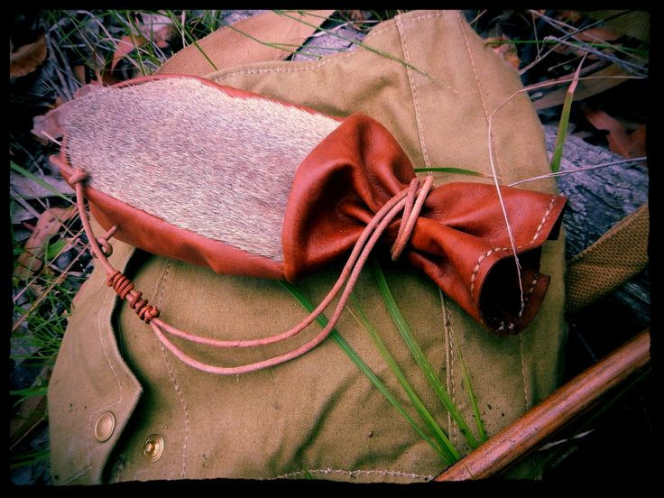 https://flic.kr/p/BAjaTn | Kangaroo Tail Fur Bushcraft Coffee Pouch
