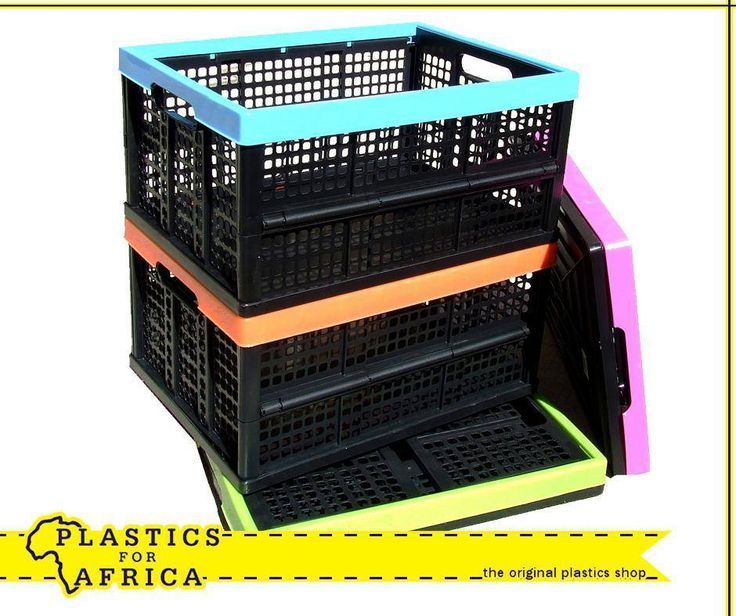 Get these collapsible crates in a range of colours, available from your nearest #PlasticsforAfrica branch. They are ideal for easy packing and storage when you go on holiday. #Storage