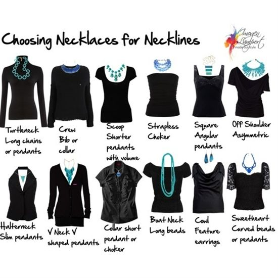 Choosing Necklaces for Necklines- I have such a hard time with jewelry! #fashion #shopping