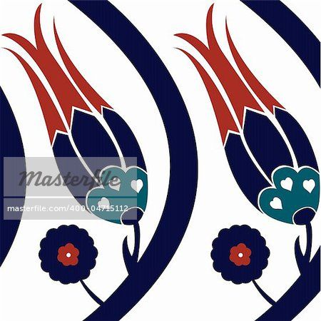 vector illustration of a traditional ottoman design - Stock Photos