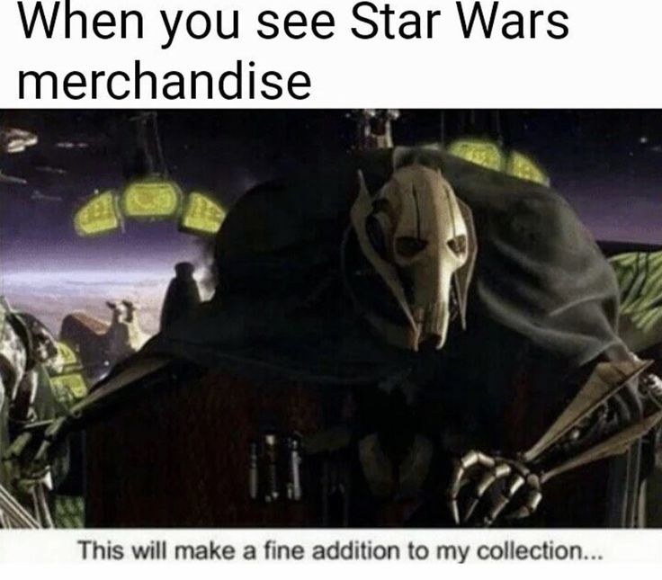 "When you see Star Wars Merchandise ""This will make a fine addition to my collection..."""