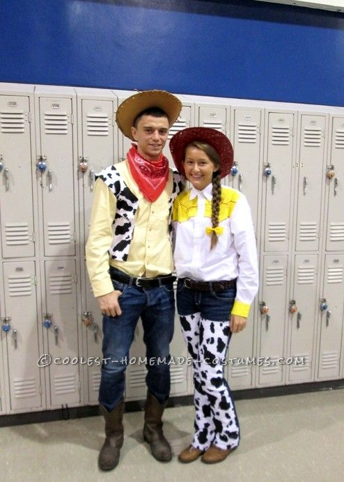 Coolest Jessie and Woody Couple Costume... This website is the Pinterest of costumes