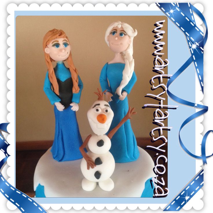 Frozen's Ana, Elsa and Olaf Sugar Figurines #frozensanasugarfigurine #frozenselsasugarfigurine #frozensolafsugarfigurine
